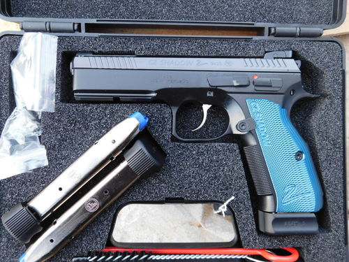 CZ 75 Shadow 2  SP-01  Blau 9mm Para